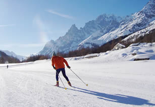 Cross-country skiing in Italy