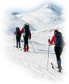 Cross-country ski tours