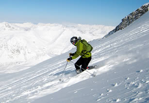 Skiing at Hintertux