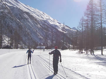 Cross-country track skiing